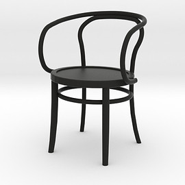 Shapeways - 1:24 Thonet Arm Chair (Not Full Size) 3d printed