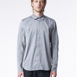 ISAORA - Geo Panel Stretch Blended Button Down (Grey)