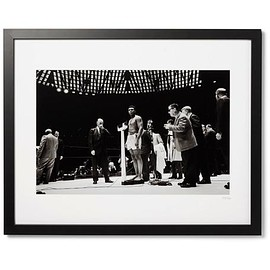 """Sonic Editions - Framed Muhammad Ali, The Weigh-In Giclée Print, 17"""" x 21"""""""