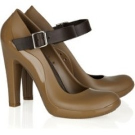 MARNI - Leather-trimmed Vinyl Mary Jane Pumps - camel