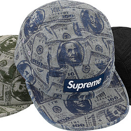 Supreme - 100 Dollar Bill Camp Cap