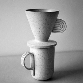 Natalie Weinberger Ceramics - Pinna coffee dripper and mug