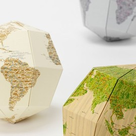 Drill Design - Paper Globe - Leather Effect