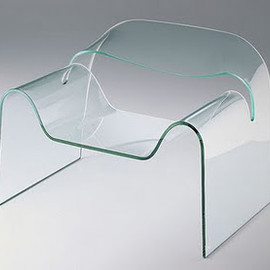 Modern Contemporary Glass Chair