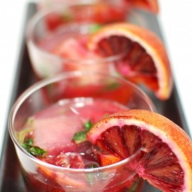 BLOODY ORANGE MOJITOS