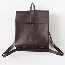 i ro se|UNISEX - SACK RUCKSACK #D.BROWN [BAG-S03]