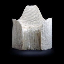 TOKUJIN YOSHIOKA 吉岡徳仁 - Honey-Pop Armchair, 2000 Greaseproof paper (folded into form)