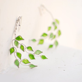 TaylorsEclectic - Lime Grove Tree Dangle Earrings, Sterling Silver Citrus Fruit Jewelry, Eco Friendly Paper Jewelry Anniversary Gift....