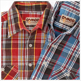 CAMCO - Double-Face Flannel Shirt 2013AW (Royal-Red)