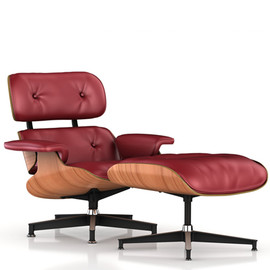 Herman Miller - Eames Lounge Chair and Ottoman Red