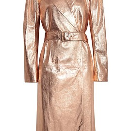 Lanvin - Metallic textured-leather trench coat