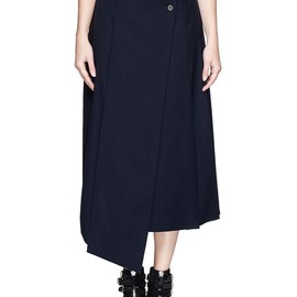 MARC BY MARC JACOBS - FW2014 'JUNKO' ASYMMETRIC PLEAT A-LINE SKIRT
