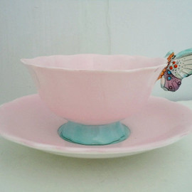 PARAGON - Butterfly handle tea cup and saucer