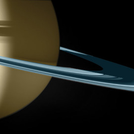 "Thomas Ruff - ""Cassini"" Serie, image from Saturn and its moons"
