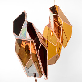 Odd Matter - OverNight copper-plated glass lamps