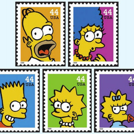 USPS - stamps/The Simpsons