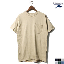 Union Line - 6.2oz SHORT SLEEVE T-SHIRT WITH POCKET MADE IN USA