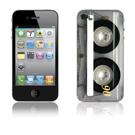 sportskins  - Retro Cassette Skin Decal for iPhone 4