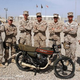 PSD Marines Build Ghazvani-Based Motorcycle - The PSD Marines and their two-wheeled project