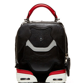 ALEXANDER WANG - SS2015 Small Sneaker Bag In Black, Lacquer With Stingray