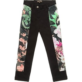 ROBERTO CAVALLI - Girls Black Antique China Trousers