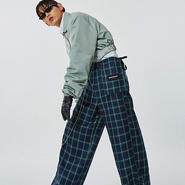 MORE THAN DOPE - S wide slacks (check)