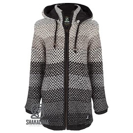 Shakaloha - Knitted Woolen Jacket Comet Natural colors with Fleece Lining and High Collar