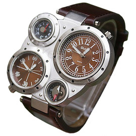 Luxury Dial Dual Movements watch (brown)