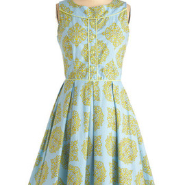 ModCloth - Made the Grade Dress:blue