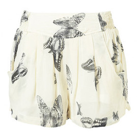 TOPSHOP - Butterfly Print Skirt Shorts