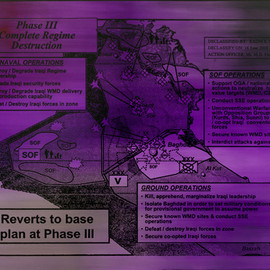 Jenny Holzer - Phase III Complete Regime Destruction purple