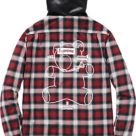 Supreme, UNDERCOVER - Satin Hooded Flannel Shirt