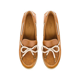 A.P.C. - Bow wedge moccasins - Caramel - A.P.C. WOMEN
