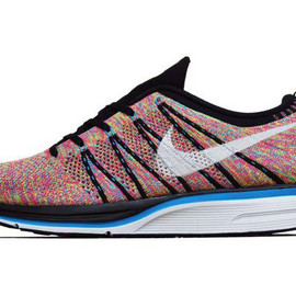 NIKE - Flyknit Trainer+ Black/White-Blue Glow-Volt