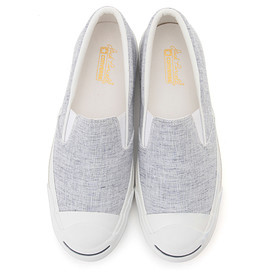 CONVERSE - JACK PURCELL FRENCH-LINEN SLIP-ON(ブルー)