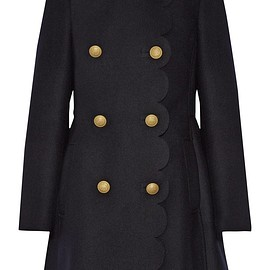 REDValentino - Scalloped double-breasted wool-blend coat