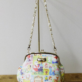 franche lippee - snow antiqueがまぐちbag