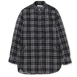 nonnative - DOCTOR LONG SHIRT COTTON NEL CHECK