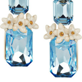 Roberto Cavalli - Swarovski crystal clip earrings