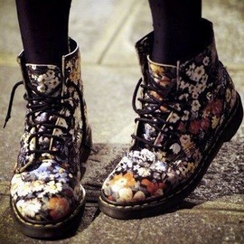Floral Print 1461 3-Eye Shoes