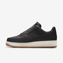 NIKE - AIR FORCE1   Anthracite-Black & Gum-Outsole