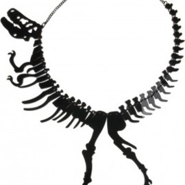 Tatty Devine - Dinosaur GIANT Necklace - black