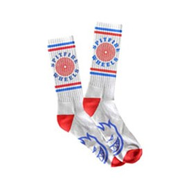 SPITFIRE - O.G. CLASSIC SOCKS (White with Red and Blue)