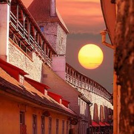 Estonia - Sunset in Tallinn