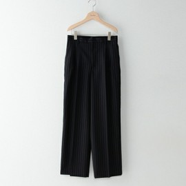 Steven Alan - CHALK STRIPE TUCK WIDE PANTS