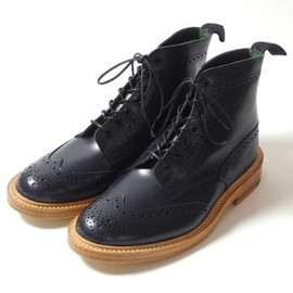 Tricker's - Tricker's(トリッカーズ) SUN HOUSE別注 M2508 Wing Tip Country Boots 『Malton』 TR-2508_NV
