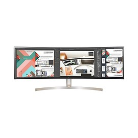 "LG - 49"" Class 32:9 UltraWide® Dual QHD IPS Curved LED Monitor (49WL95C-W)"