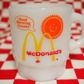 Jadeite Magic Gallery, Fire King, ファイヤーキング - Fire King Canadian Mc Donald's Stacking Mug