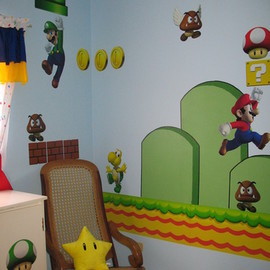 ThinkGeek - Nintendo Wall Graphics - New Super Mario Bros