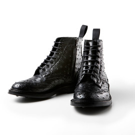 SOPH,Tricker's  - OSTRICH LEATHER WING TIP BOOTS